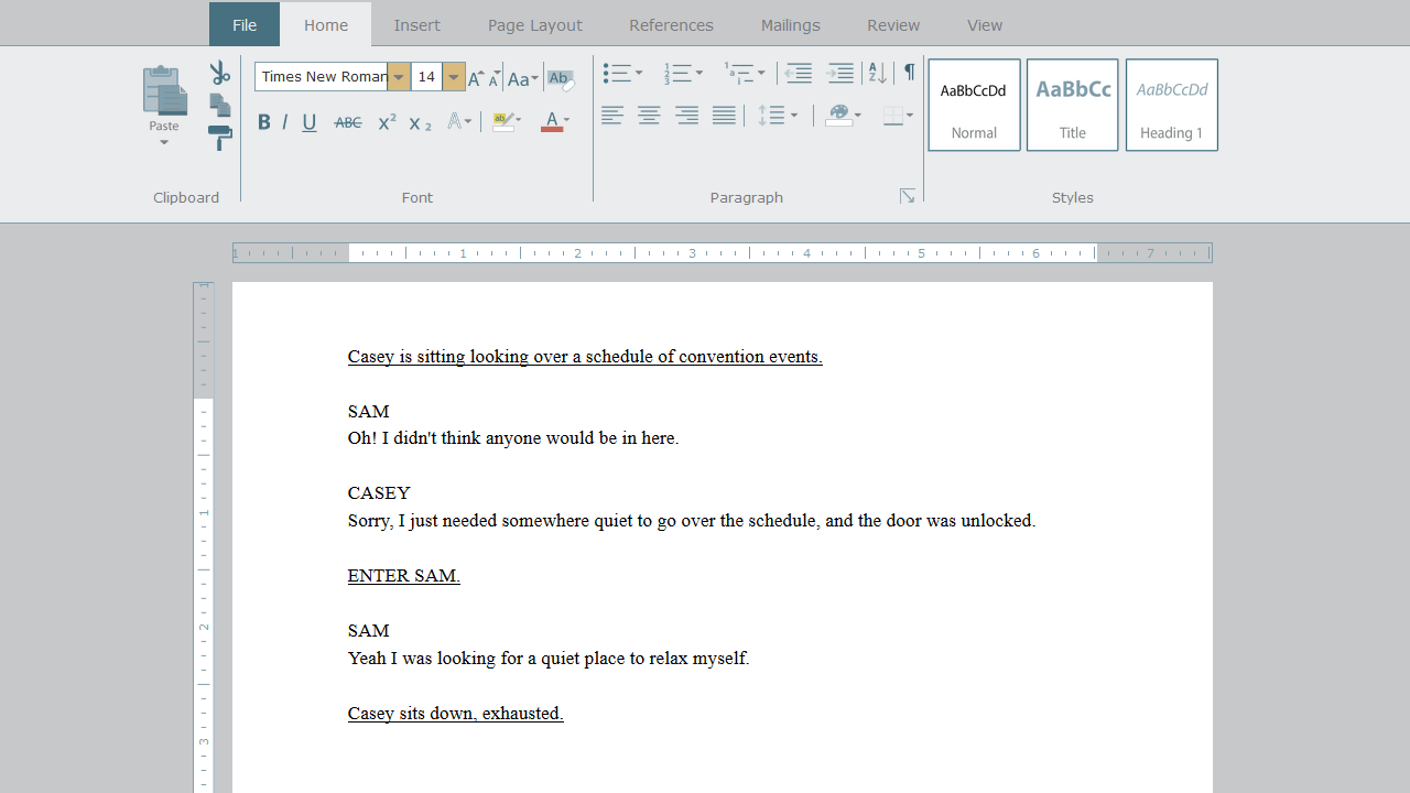 Shown a word processing document, the student is asked to move text using Cut and Paste